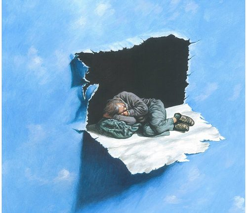 1-man-sleeping-with-no-home-painting