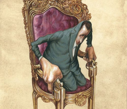 13-dictator-on-a-chair-illustration-painting