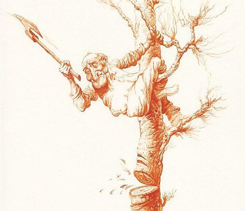 14-man-cutting-trees-illustration-painting