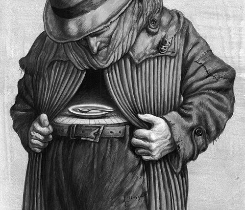 6-poor-man-demonstrating-hunger-painting
