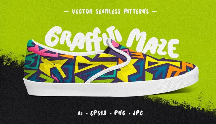 پترن های جذاب گرافیتی ماز