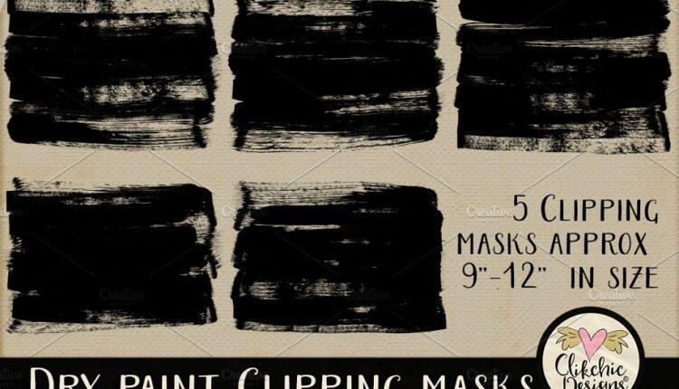 تصاویر PNG ماسک رنگ خشک