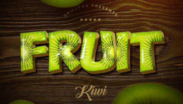 استایل نوشته میوه فتوشاپ