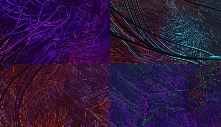 15 پس زمینه شاخه ای سه بعدی