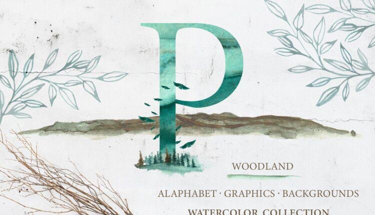 تصاویر PNG آبرنگی جنگل