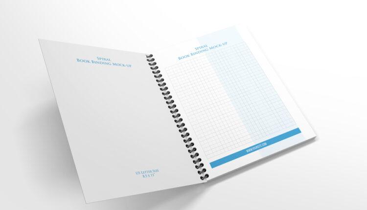 موکاپ کتاب و دفترچه فنری