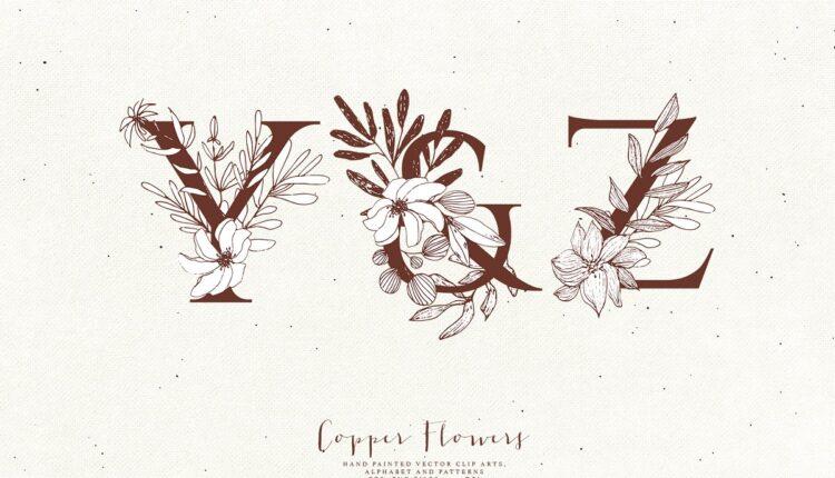 تصاویر PNG گل های مسی