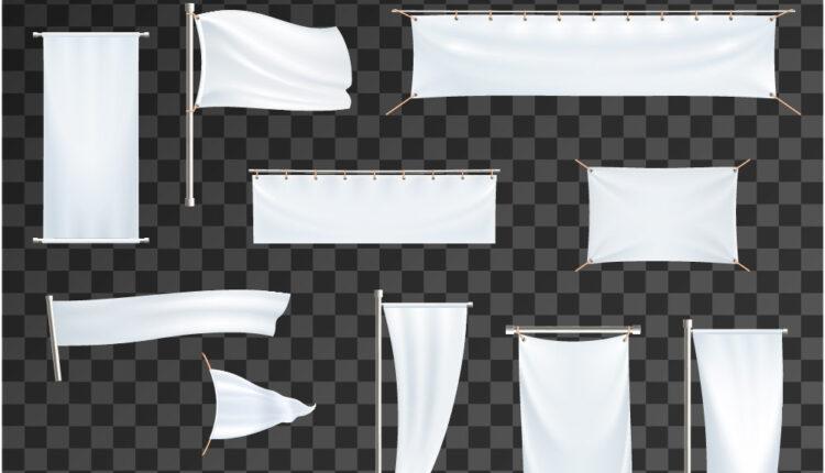 وکتورهای آماده پرچم و پارچه نوشته