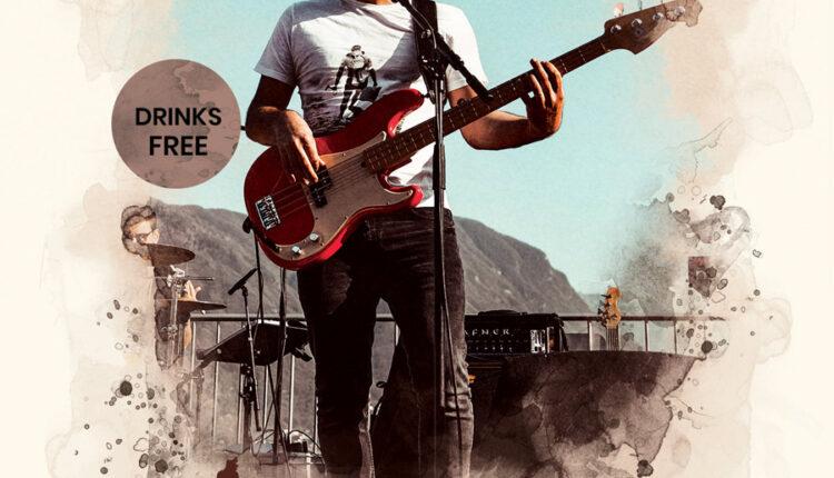 لایه باز پوستر کنسرت موسیقی