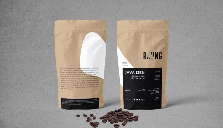 موکاپ بسته بندی قهوه