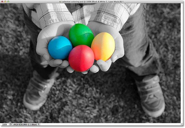 سیاه و سفید کردن بخشی از تصویر در فتوشاپ