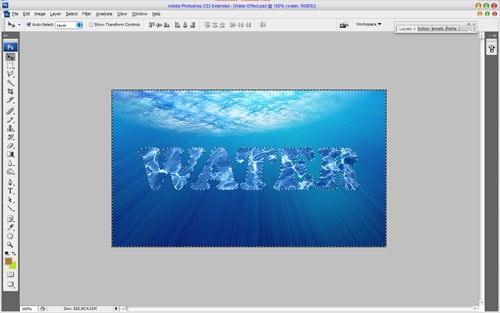 آموزش تایپوگرافی طرح آب